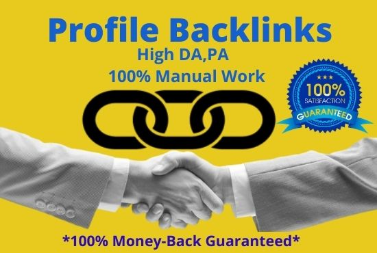 I will create profile backlinks for your website