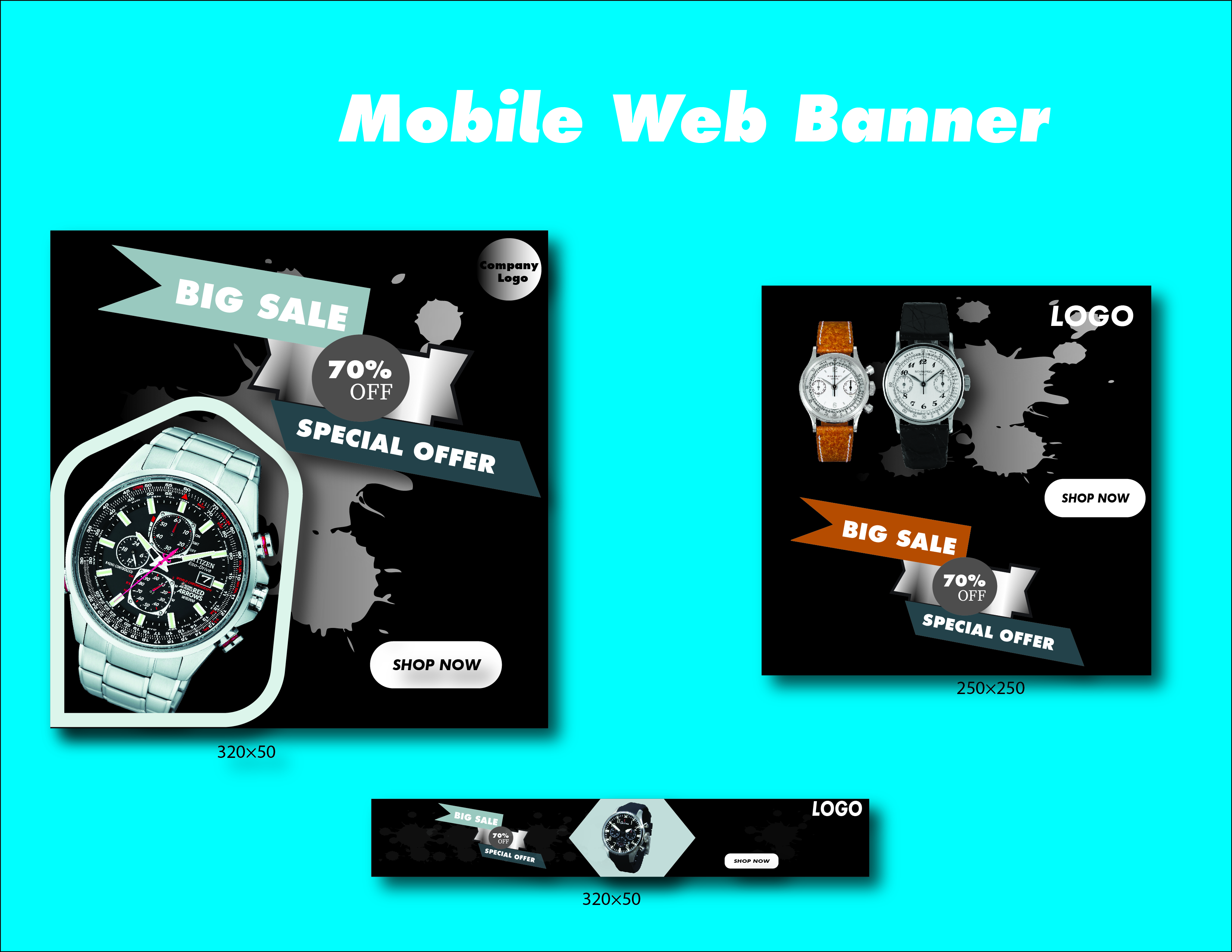 I will do your effective google ads banner in 24hr
