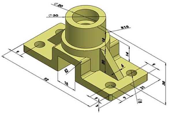 I will make 3d cad models from 2d drawings using Solidworks