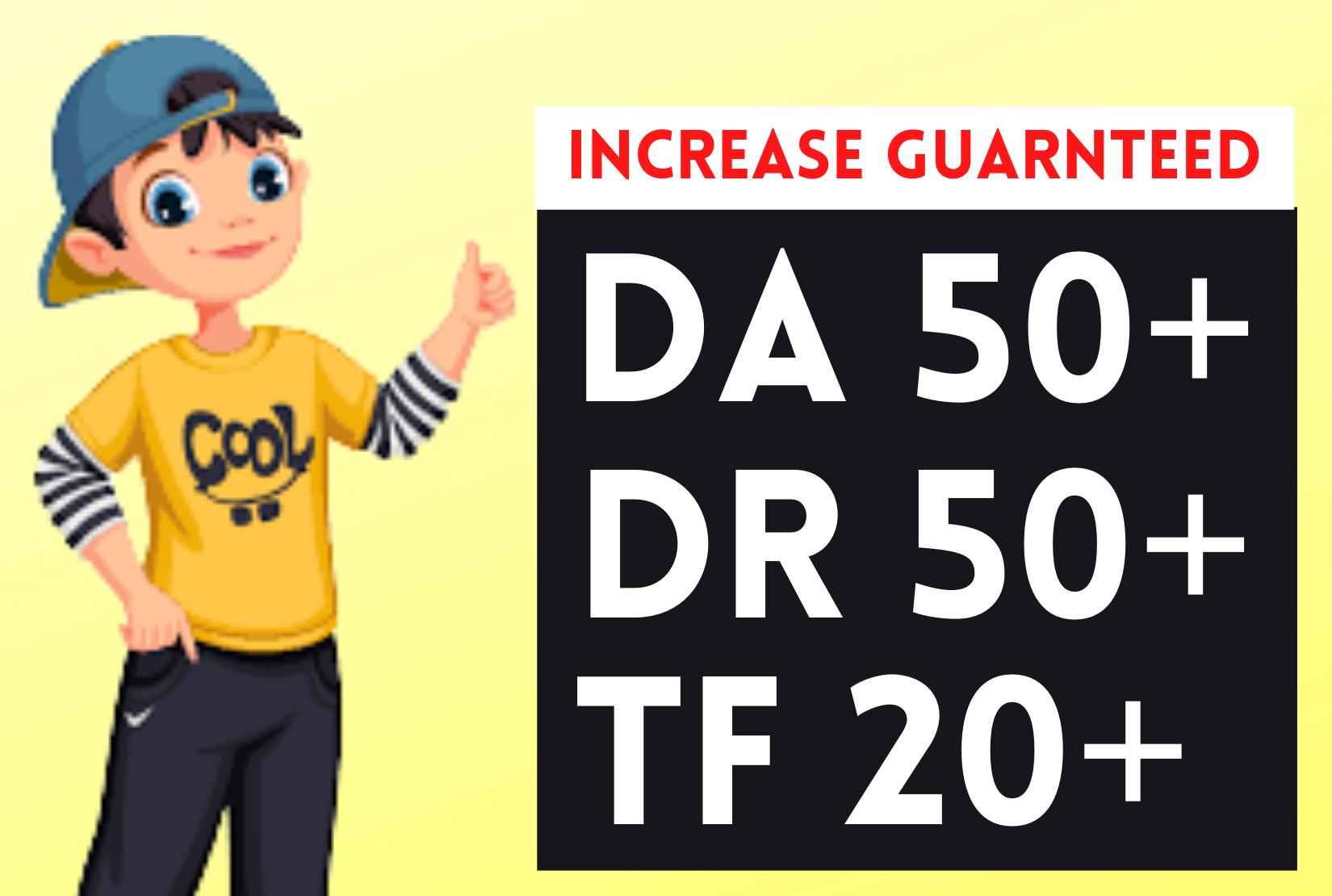 I will icrease domain rating ahrefs dr 40 moz da 50 tf 20 to 30