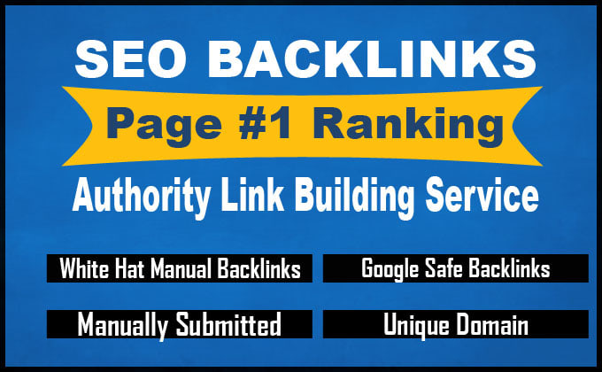 SEO backlinks authority link building service for google page 1 ranking