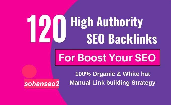 I will do 120 high domain authority 50 backlinks