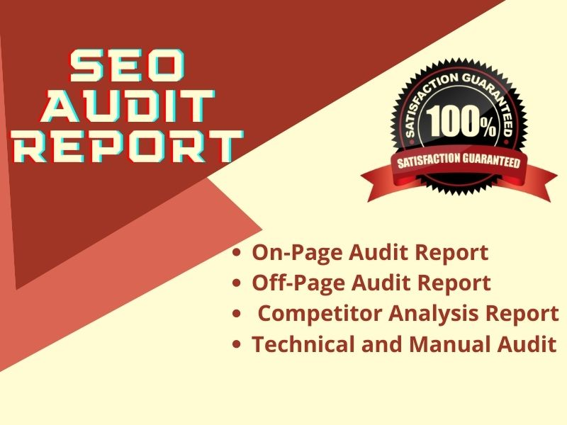 I will provide seo audit report for your website