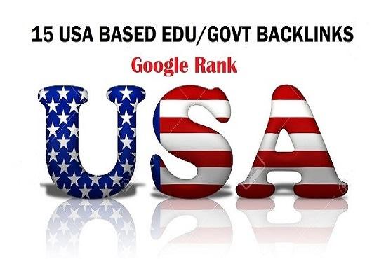 I will do 15 USA edu, gov backlinks
