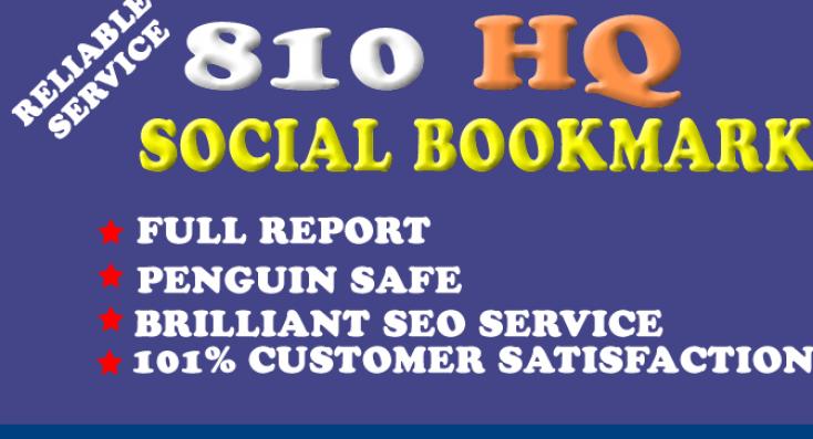 DO create 800 social bookmark SEO backlinks + ping