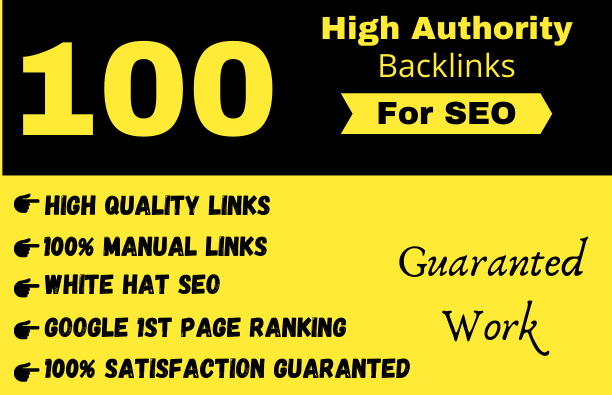 I will make 100 backlinks on da 100 plus sites to rank on 1 page