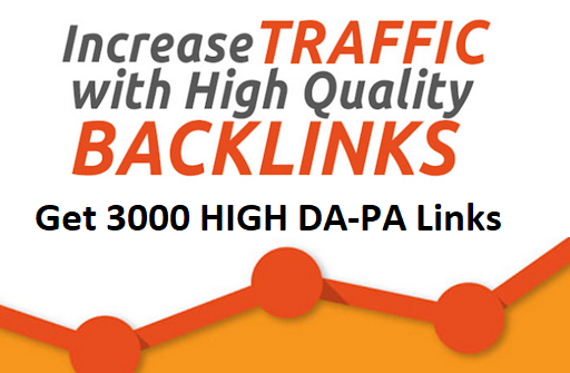 3000 HIGH Quality DA-PA Links For Boosting Ranking in Search Engine