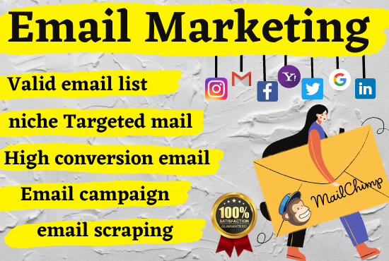 I will collect niche targeted valid email list and email marketing
