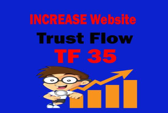 i'll increase majestic tf 35 plus guaranteed