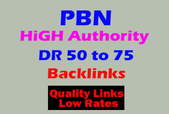 I'll provide 30 DR 50 to 75 backlinks off page seo