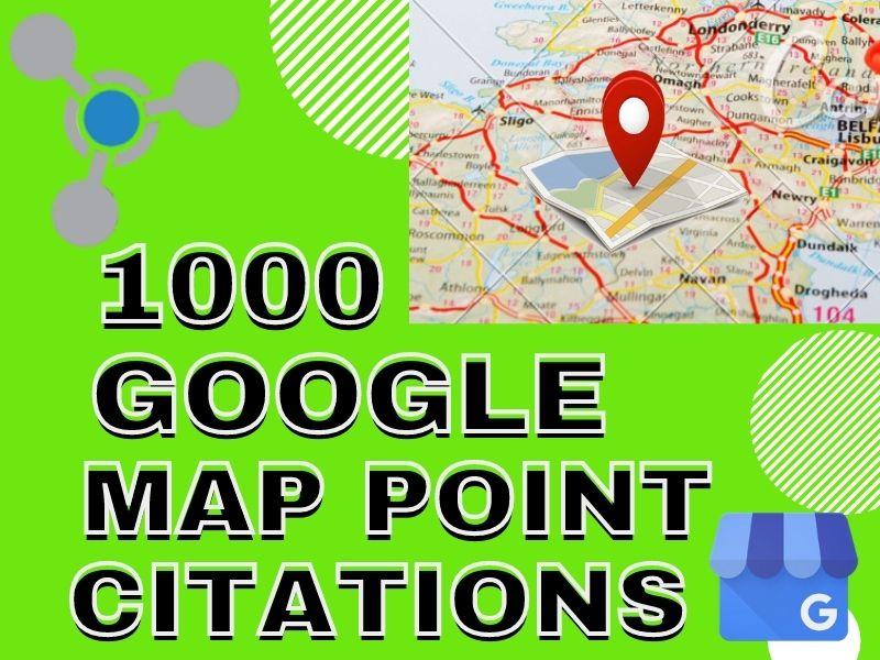 I will do 1000 google map Point Citation
