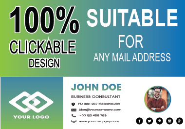 Create Impressive Clickable Email Signature Professionally