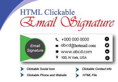 I will provide suitable Html email signature.