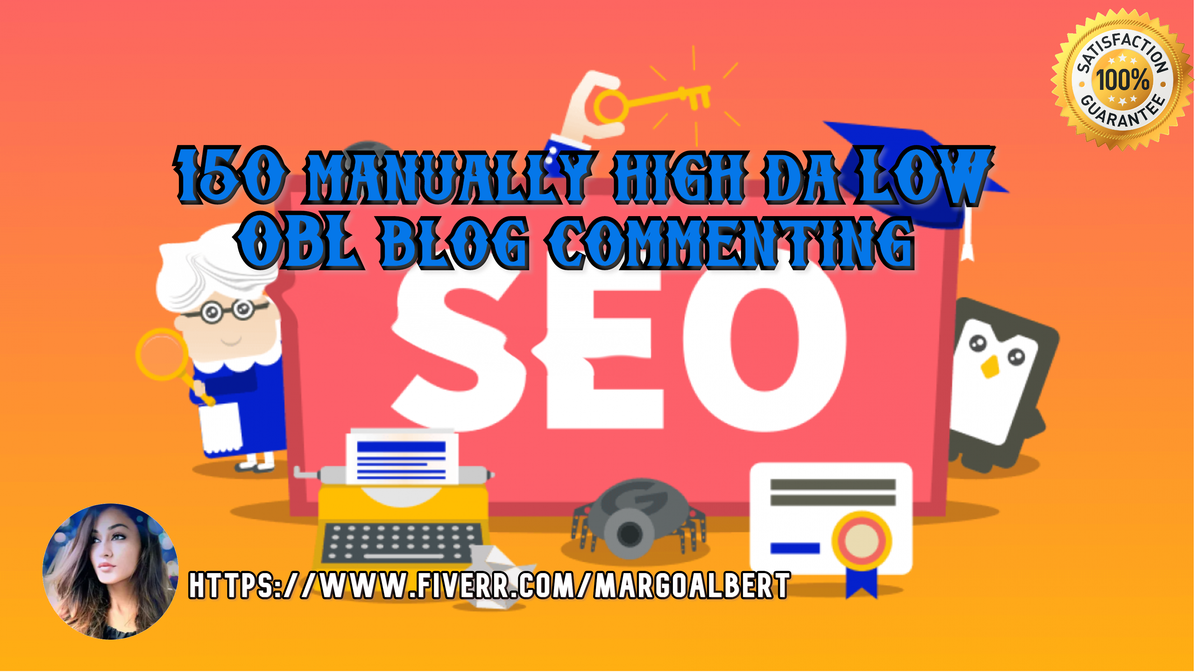I will do 150 manually high da low OBL blog comment