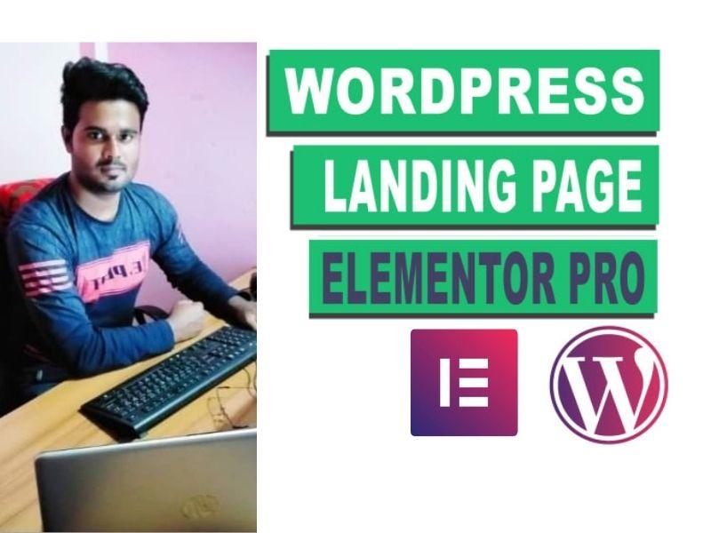 I will create a modern WordPress landing page, WordPress squeeze page, elementor landing page