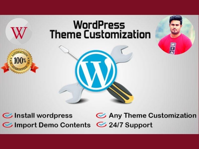 I will install WordPress theme as like demo
