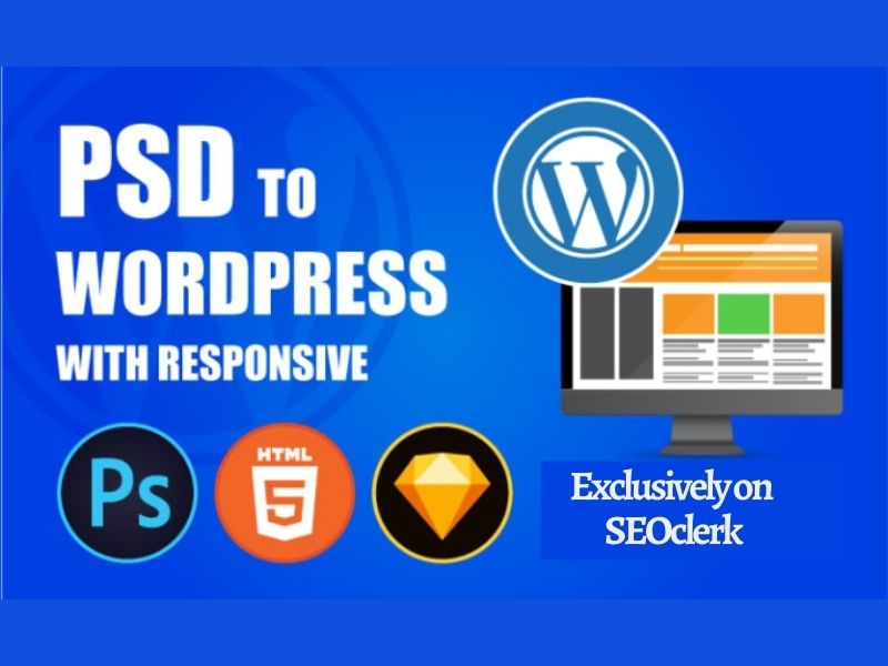 I will convert psd,  xd,  sketch,  html to wordpress website design
