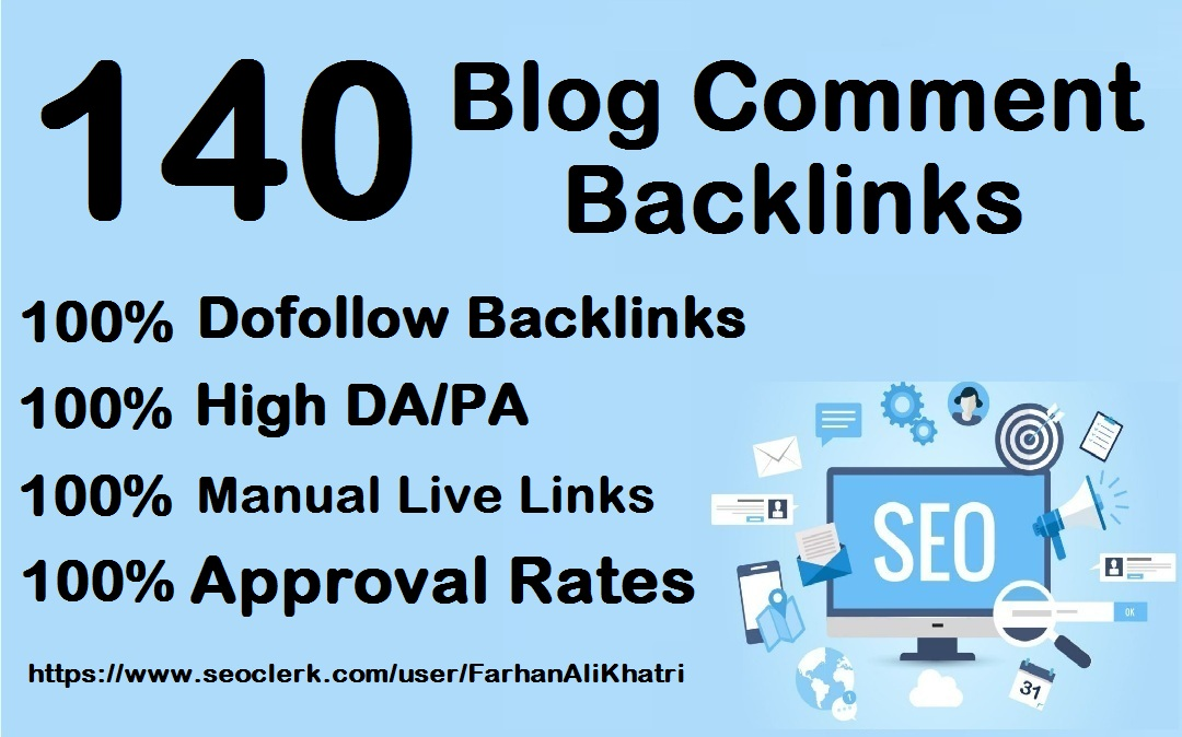 I Will Create 140 Dofollow Blog Comments Seo Service Backlinks