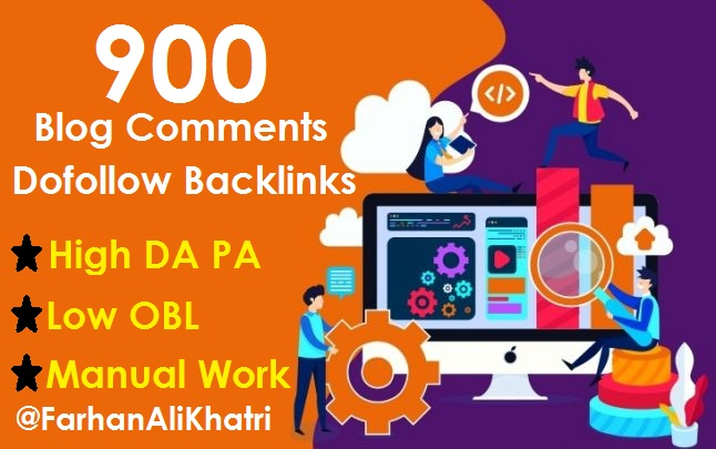 Manual 900 blog comments dofollow backlinks on high DA PA