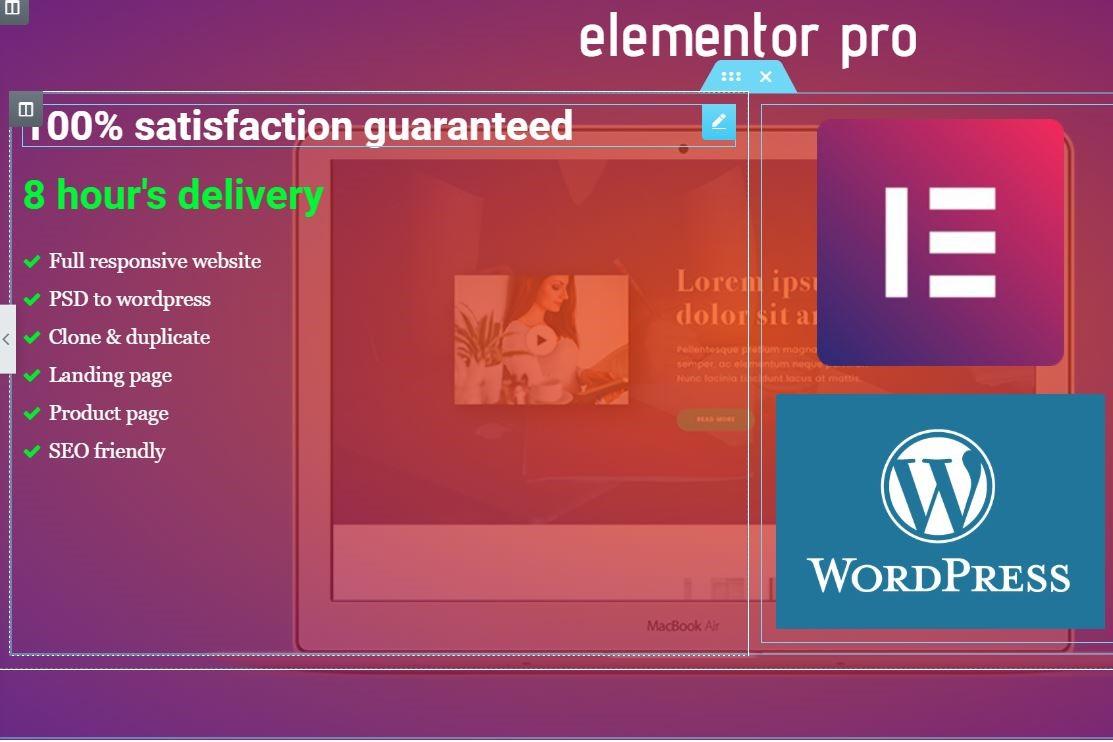 Create a responsive wordpress website in 12 hours.