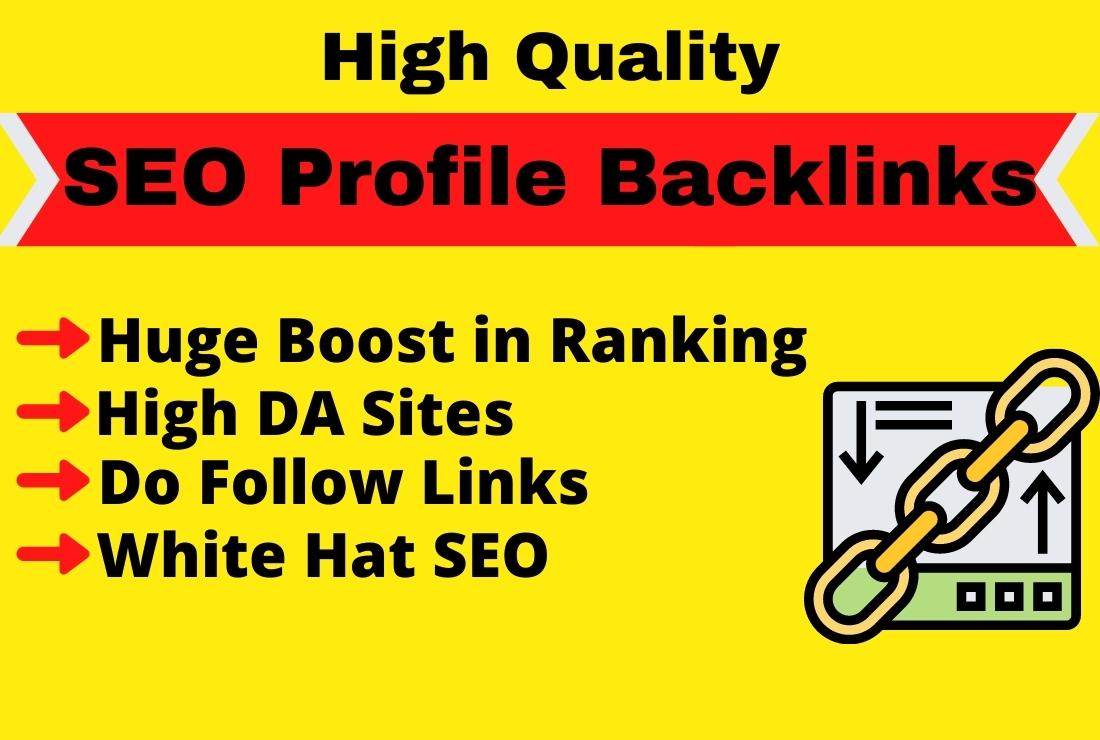 SEO Profile Backlinks on Social Media sites