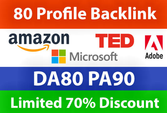 1 Do 80 High Domain Profile BackLink For Increase Your Google Ranking And Stay On Top Page