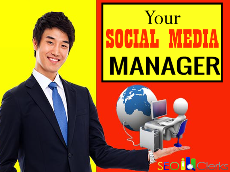 I will be your social media manager and content writer