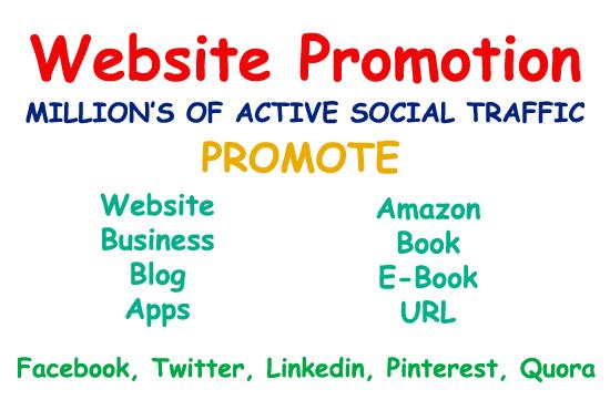 I do website promotion or any link on social media platform's