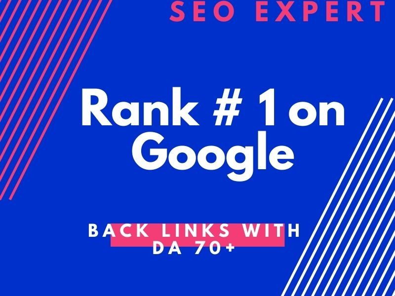 Back links with DA 70+ Site. High value Backlinks with high domain authority