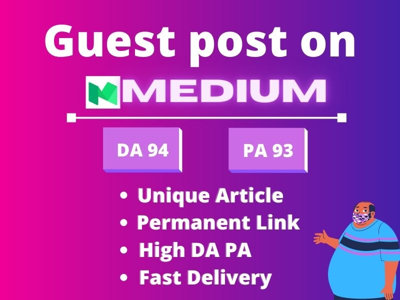 I will do High DA Guest post service with SEO optimized content and High Quality Backlink on Medium