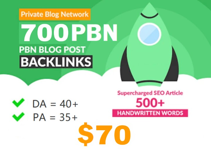 Get Extream 700+ PBN Backlink in your site hompage with HIGH DA/PA/TF/CF with uncommon site