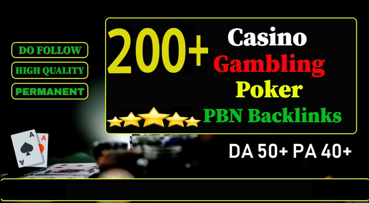 Build premium 200+ CASINO Backlink presentation page web 2.0 with never-ending dofollow Trustfollow