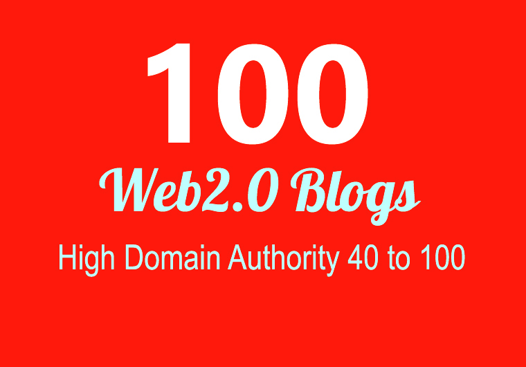 Construct 100+ Backlink,  web 2.0 and Dofollow with high DA/PA in your site page with exceptional sit