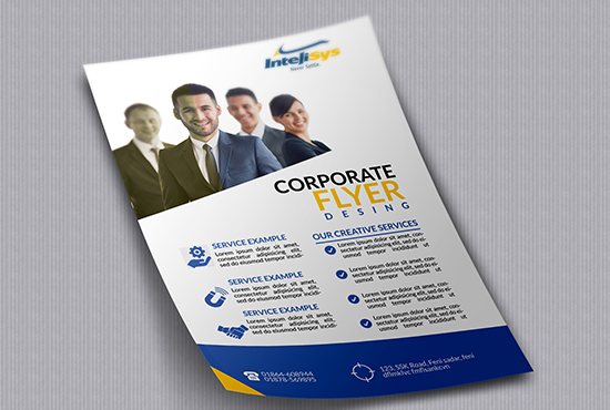 design a professional corporate flyer in 24 hours