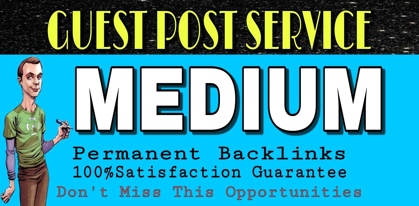 write and publish Guest post on Medium DA96-PA81