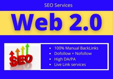 I will create 50+ Web2.0 Backlinks on high authority sites