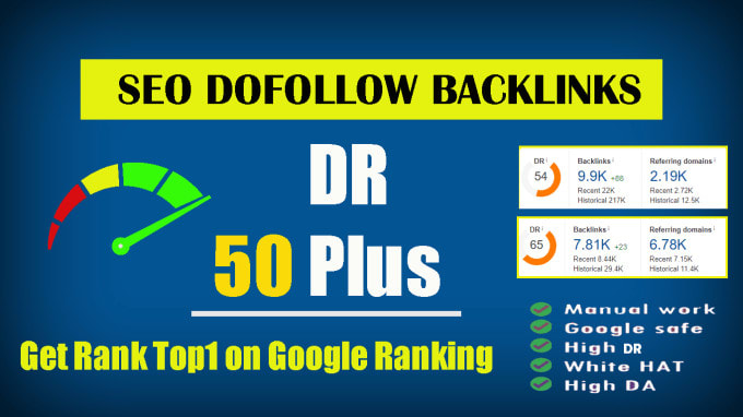 I will build 10 high dr50 plus homepage pbn dofollow backlinks