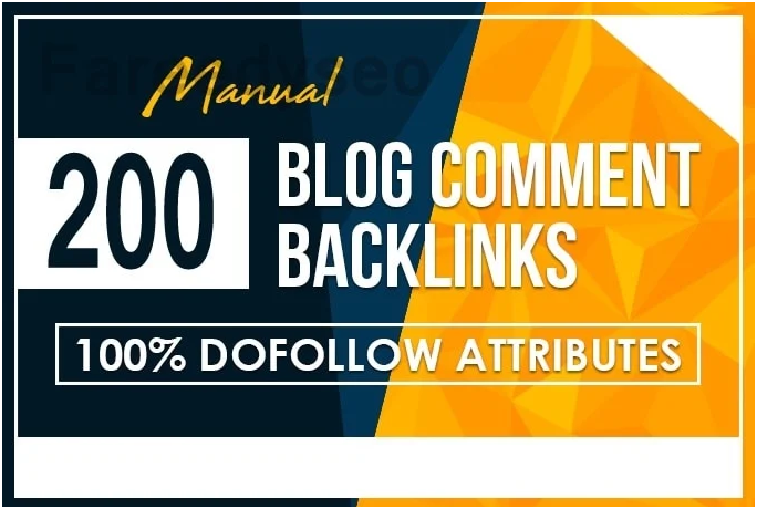I will build manual 200 high quality blog comments backlink