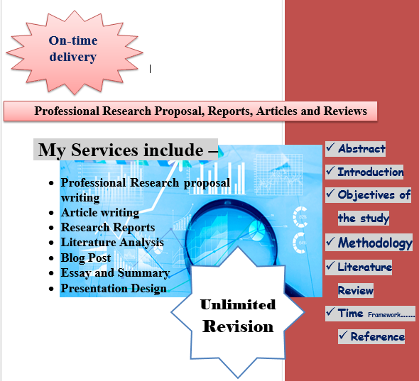 Write Professional Research/Thesis Proposal,  Reports,  Articles and Reviews