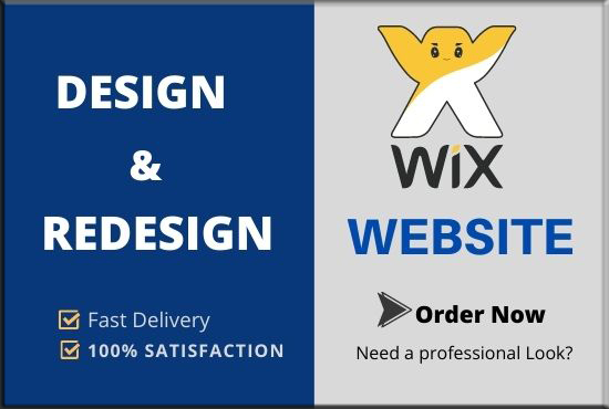 I will do Design and redesign your wix website