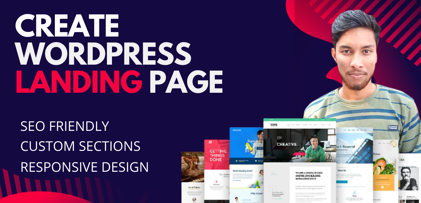 I Will Create Professional Responsive Wordpress Landing Page
