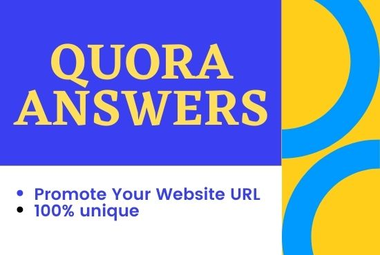 Offer 10 High Quality Quora Answer with your keyword and URL