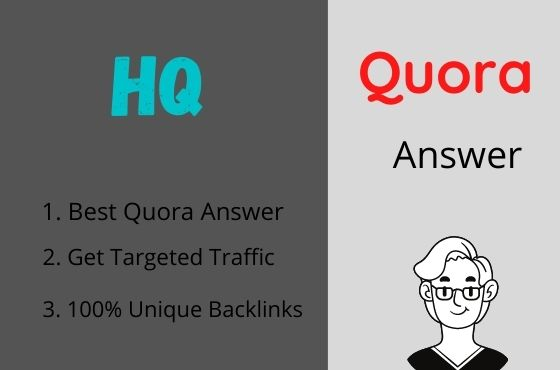 I Will Promote Your Website 20 Quora Answer with Guranteed Traffic