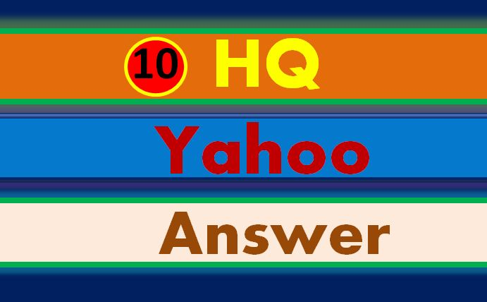 Create manually 10 yahoo answer question