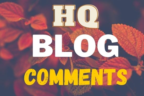 I will do manually 50 niche relevant blog comments backlinks on high da