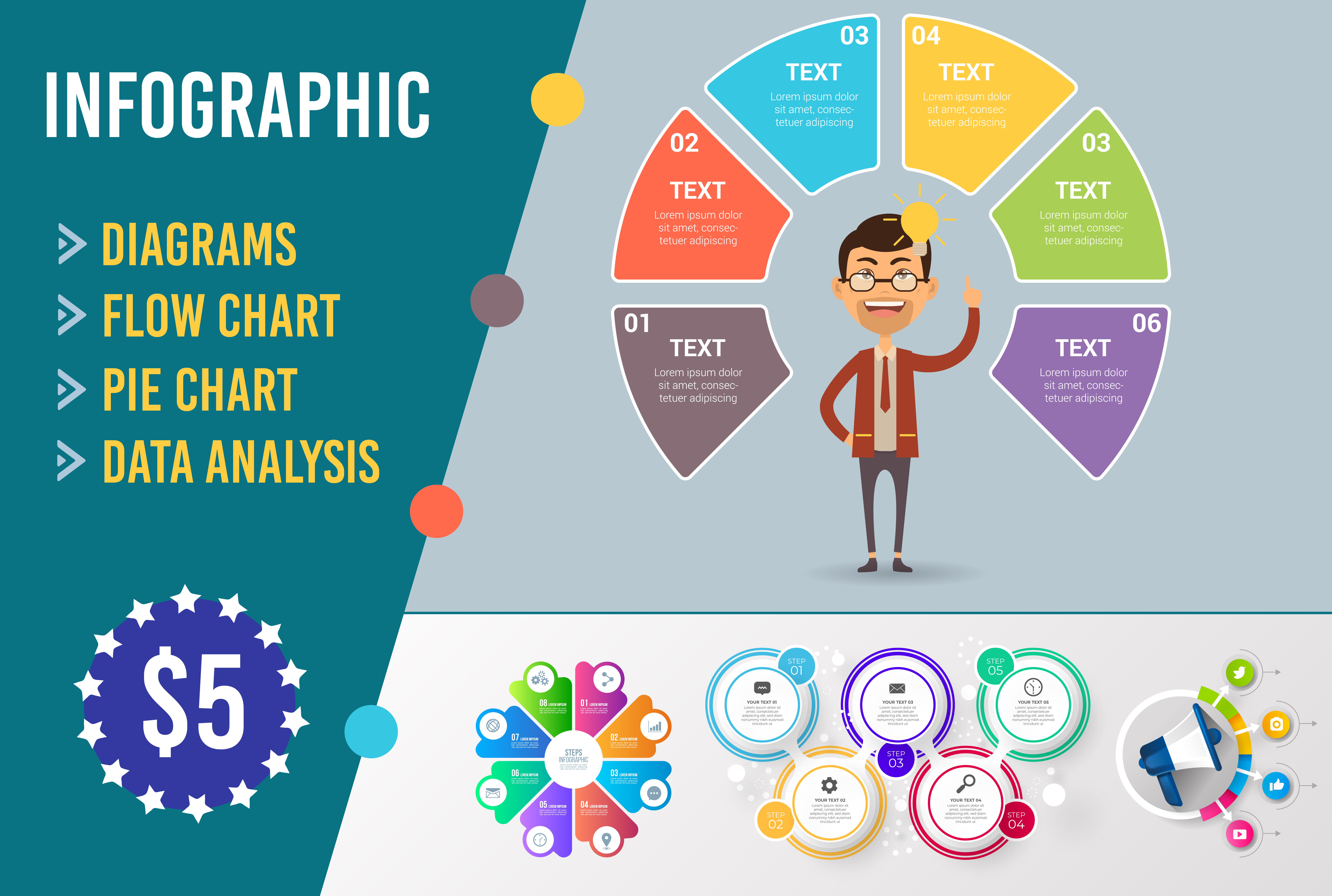 Create Flow chart infographics in 12 hours