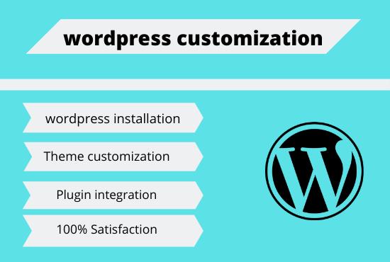 I will do any wordpress customization service SEO