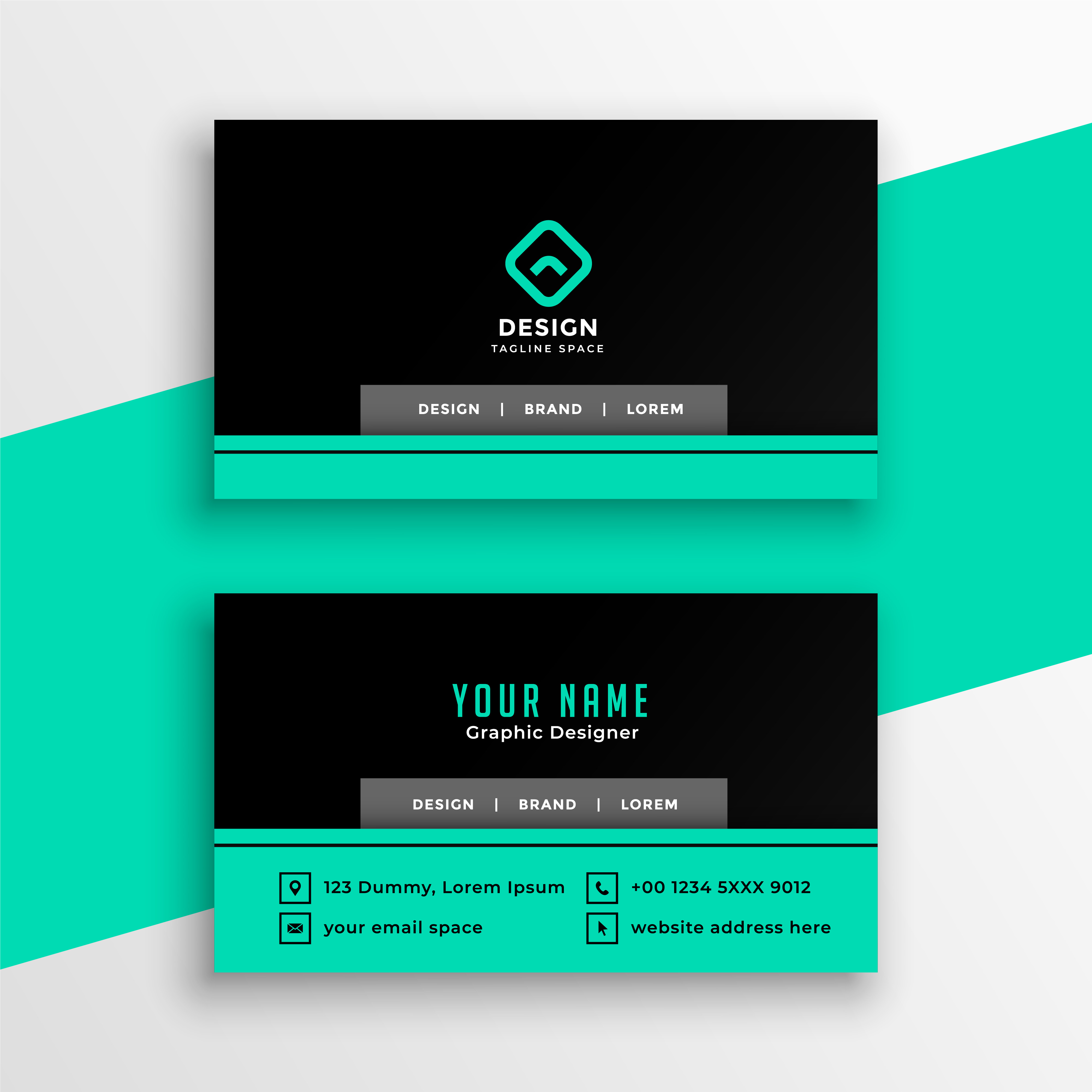 I will design business card,  visiting card and ID card