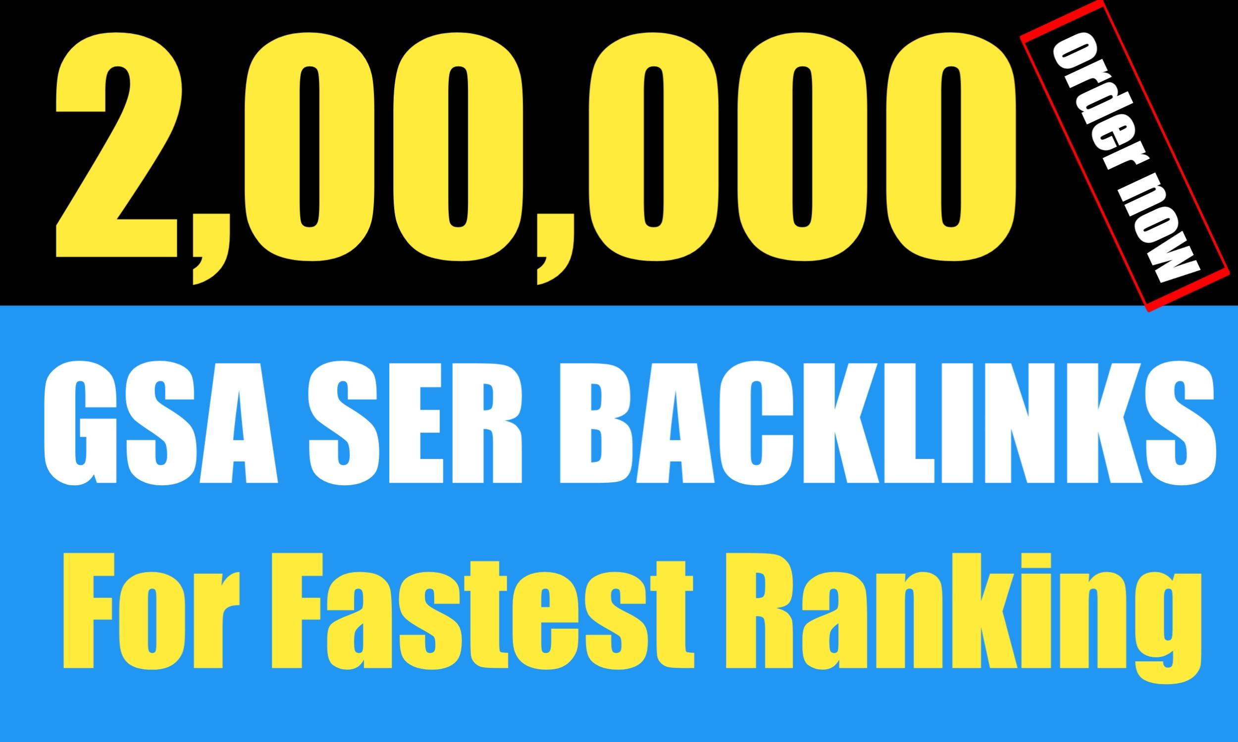 Build 200k GSA SER backlinks For Website Rankings