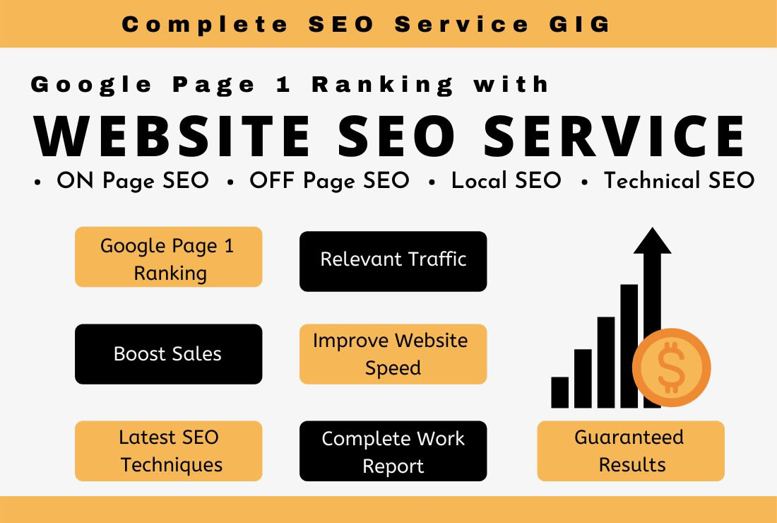 provide google SEO service for top page ranking and website optimization